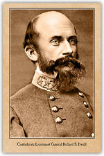 CIVIL WAR RP Confederate Lt. General Richard Ewell  PHOTO A++ Reprint CDV