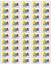 "50 Sesame Street Babies Elmo Cookie Envelope Seals / Labels / Stickers 1"" x 1.5"""