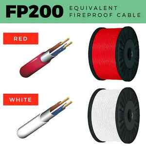 FP200 EQUIVALENT CABLE 2 CORE-4 CORE FIREPROOF 1MM-2.5MM FIRE ALARM RED / WHITE