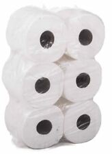 6 PACK 2 PLY WHITE EMBOSSED CENTRE FEED PAPER WIPE ROLLS **SPECIAL PRICE**