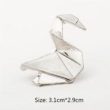 Fashion Women Men Silver Swan Pattern Windmill Brooch Badge Pin Jewellery Gift