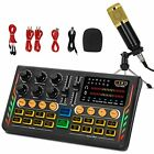 Podcast Equipment Bundle, All-in-ONE DJ Sound Mixer with Tripod and Microphone