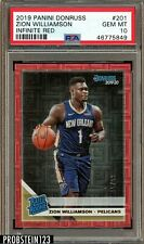 2019-20 Panini Donruss Infinite Red #201 Zion Williamson RC Rookie /99 PSA 10