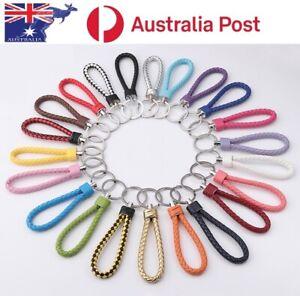 Fashion Leather Key Chain Ring Keyfob Car Keyring Keychain Gift colour AU