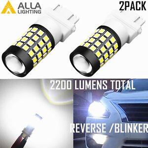 Alla Lighting LED 51-LED Back Up Reverse Light Backup Lamp/Turn Signal,White,2pc