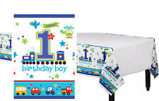 All Aboard Boy First Plastic Table Cover Birthday Party Decoration Supplies ~1st