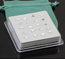 Wholesale pack 20P Solid 925 Silver Triangle Straight Bar Rod Nose Stud Fashion
