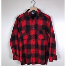 Woolrich   Vintage Wool Plaid Flannel Button Down Shirt   Size Medium Large