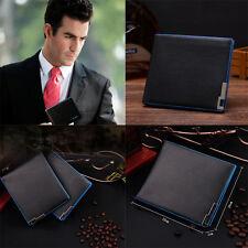 Men Business Bifold Leather Men's Card Holder Passport Cover Wallet Purse