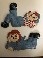 Vintage Raggedy Ann And Andy Wall Hanging Decor Ceramic