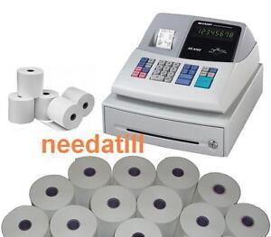 TILL ROLLS - Sharp XE-A102 Cash Register Rolls XEA-102 XEA102 XE A 102 White