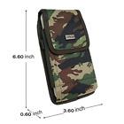 For Motorola Moto E(2020) Z4 G7 Duty Holster Camo Nylon Clip Pouch Tactical Case