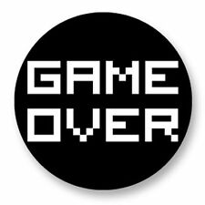 Magnet Aimant Frigo Ø38mm Retro Game Arcade Game Vintage Jeux 80s Game Over