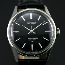 VINTAGE SEIKO LORD MARVEL 36000 Hi BEAT 5740-8000 BLACK DIAL MEN'S DRESS WATCH
