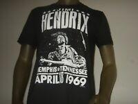 Men's S-XL Jimi Hendrix Memphis Tennessee April 18th 1969 Guitar Music Shirt Gap