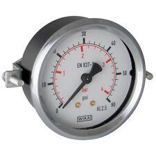 "WIKA Manómetros - 0-4bar 63mm DIA. F. Soporte 1/4"" BSP posterior 4-00435"