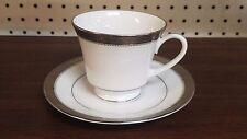 Noritake  Signature Platinum 4277 cup & saucer SET FREE Ship! more this pattern