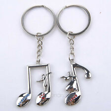 2pcs Pair Couple Keychains Music Note Love Forever Dancer USA Shipper Fast #2