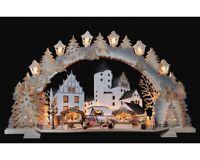 3D-Schwibbogen 72cm Schloß-Weihnacht Schwarzenberg Erzgebirge + Gratis Laternen