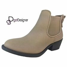 NEW Womens Shoes Ankle Boots Booties Slouch Cute Casual Flat Buckle Round Toe
