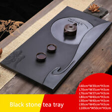 large heavy tea tray handmade carved moon cloud Zen style serving tray multisize