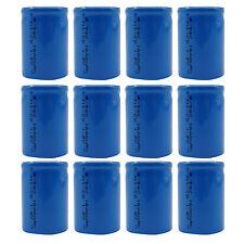 12 stk. 4/5 Sub C 1600mAh 1.2V Ni-Cd Wiederaufladbare Batterie Zelle Flat-Top