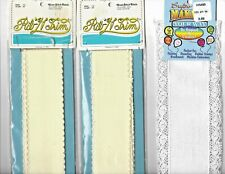 Two Regency Rib 'N Trim Cross Stitch Fabric Ribbon & One Bookmark