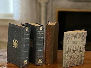 Vintage Miniature Dollhouse 1:12 Library Decor England Hard Bound Artisan Books