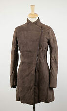 NWT BRUNELLO CUCINELLI Brown Suede Down Filled Full Length Jacket 6/42 $6745