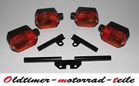 SET Blinker mit Blinkerhalter Birnen 12V 6-eckig Gelb Simson SR50 S51 MZ ETZ 250