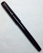 Parker Big Red Ball Pen Black Bandless Chrome Clip Excellent Condition