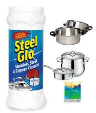 Steel Glo 14oz Stainless Steel Cleaner Copper Chrome Non Toxic Anti Tarnish USA