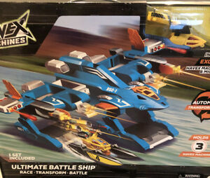 "New Havex Machines ""Ultimate Battle Ship"" Race Transform Battle Holds 3 Machines"