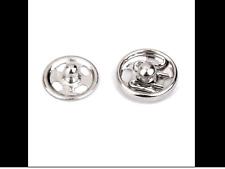 10 BOUTONS PRESSION métal à coudre ARGENTÉ 10mm/ 1cm