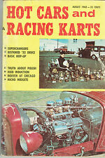 Hot Cars and Racing Karts August 1962 Go Kart Hot Rod Speed Tips How To