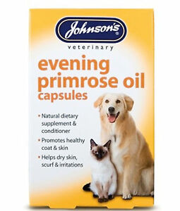 Johnsons Evening primrose oil 60 capsules Supplement & Conditioner Dogs & Cats
