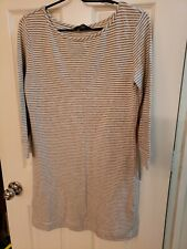 TART Grey and White Striped Dress M
