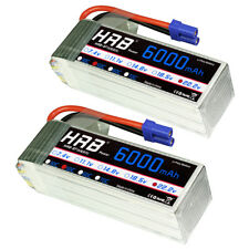 2pcs HRB 22.2V 6S 6000mAh LiPo Battery 50C-100C EC5 for RC Helicopter Airplane