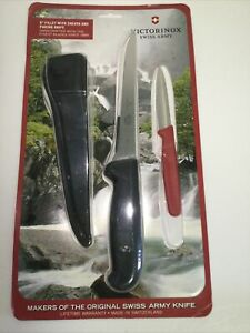 Victorinox 57604 Wavy Paring Knife And Fillet Knife Set, Sheath (Fillet)