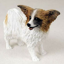 PAPILLON (BROWN) DOG Figurine Statue Hand Painted Resin Gift Pet Lovers
