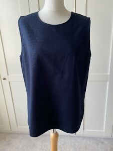 COS Navy Cotton Shell Top 44/16