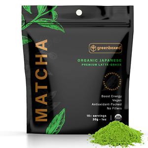 Te verde molido Japones Matcha USDA organico Calidad Premium Latte 1oz EXP 5/21
