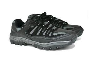 MENS NEW BLACK COMFORT HIKING WALKING TRAIL TREKKING TRAINERS UK SIZE 9-11