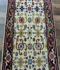 "2'4""x12' New Hand knotted Wool Mahal Super Serapi Oriental FINE rug runner"