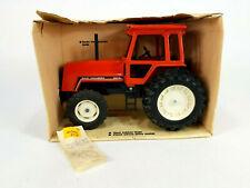 Vintage Ertl Allis-Chalmers 8010 Tractor w/ Cab Red Die Cast Metal 1/16 Scale