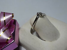 White Gold Tracer BandRing #9494A .04cttw Natural Single Cut Diamond 14Kt