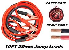 10ft 800amps Starter Jump Leads long Heavy 20mm² Booster Cables 12 volt + CASE