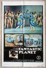 FANTASTIC PLANET ORIGINAL 1973 1SHT MOVIE POSTER FLD ROGER CORMAN EX