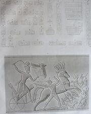 THEBES . KARNAK. (pl. 38, A. vol. III).Hieroglyphes dans ...  DESCRIPTION EGYPTE