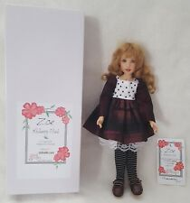 "Kish & Co Doll by Artist Helen Kish Zoe Mulberry Plaid 11"" Resin LE NEW MIB NRFB"